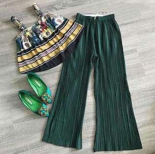 Top + square pants terno