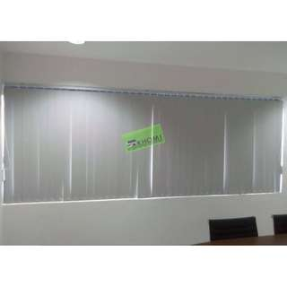 VERTICAL BLINDS Ribbed Flat Grey 353079_Office Furniture