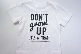 【BABYWEAR】【CLOTHING】【BOY】【INS】CHILDREN DON'T GROW UP SHIRT / TOP / TEE