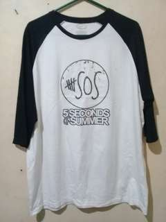 NEW🎶 Plus Size 3/4's 5SOS Shirt