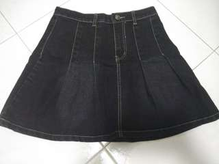 ☆ [3 for $15, buy 6 get 1 FREE] Denim high waist skirt