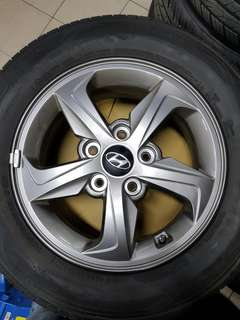 15 Inch 5x114.3 Used Rim & Tyre