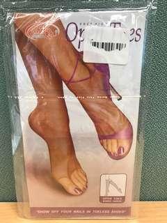 涼鞋膚色絲襪