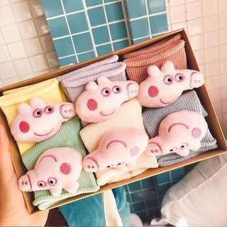 🚚 佩佩豬立體棉襪