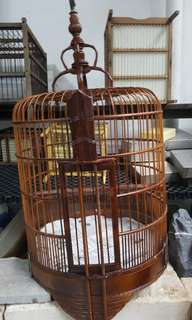 14 inches hwa mei old bamboo legs cage