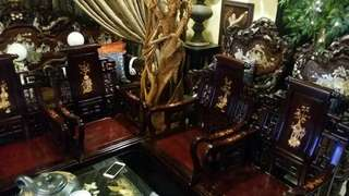 5pcs chinese rosewood antique  set chairs table.. good quality heavy