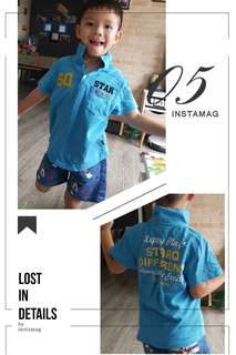 """PL """"StarQ Earth"""" Polo T for boys"""