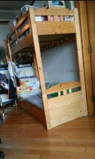 木制碌架床 2.5呎*6呎 連三個櫃桶