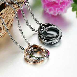 P.O Couple stainless steel necklace