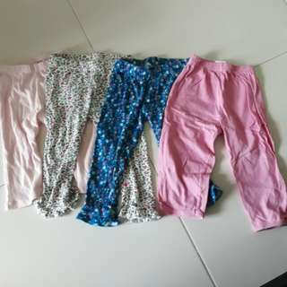 Preloved Baby Girl's Leggings Tights Long Pants Bundle