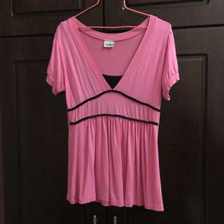 Pink Blouse with Attached Tube Top #20under