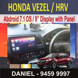 "HONDA VEZEL / HRV Android 7.1 OS  9"" Touchscreen Display Multimedia AV Receiver"