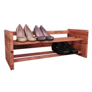 Stackable Cedar Shoe Rack