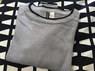 H&M Sweater 紫藍色冷衫