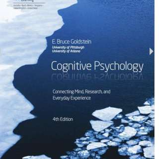 Cognitive psychology Test bank