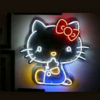 Hello kitty neon lighting original glass gas