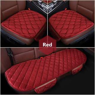 [PO] 3Pcs/Set Universal Car Seat Cover Soft Velvet Cushion Pad