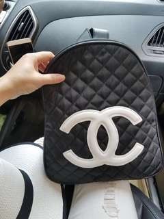 Chanel Backpack White Logo authentic gift
