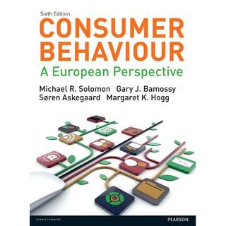 Consumer behaviour a european perspective 6th edition