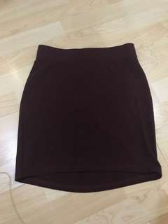 H&M Maroon Pencil Skirt