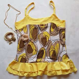 🆕️ Yellow Top With Adjustable Strap