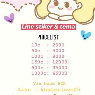 Koin Stiker & Tema Line