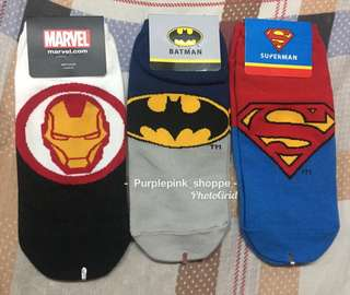 MARVEL & JUSTICE LEAGUE SOCKS