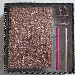 Notebook Glitter Set