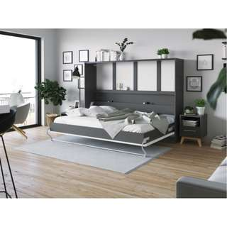 Murphy Bed 140x200cm Horizontal with curved leg