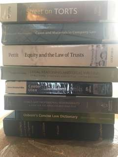 Law textbooks - SMU - evidence equity economics ethics neumann company law torts