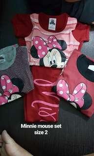 Minnie mouse pyjamas set