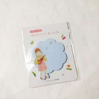 Sticky notes romance of a girl / memo pad / sticky pad girl