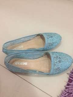 Blue lace shoes