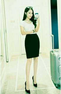 OEM office lady skirt (Size S,M,L,XL&XXL)