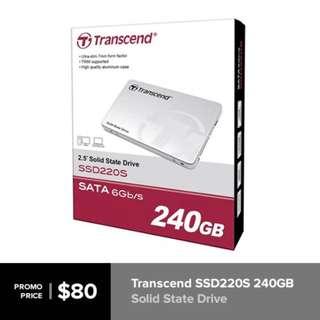 BNIB Transcend 240GB SSD Solid State Drive SSD [INSTOCK]