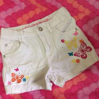 Butterfly shorts fits 3-4 years old