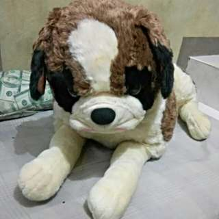 Huge Saint Bernard Stuffed Toy