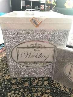 Wedding money box and reception book