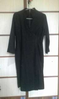 Dress lengan 3/4 hitam manis