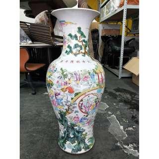 非凡二手家具 大清乾隆陶瓷花瓶*花器*盆栽*花盆*瓷器*裝飾品*擺飾品*3