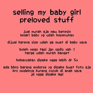 Baby preloved stuff