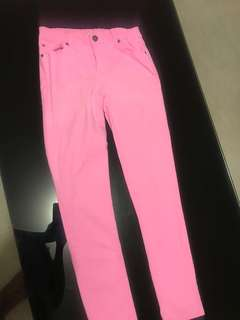 Girls coloured pants, 3size 14 and 1 size green 12