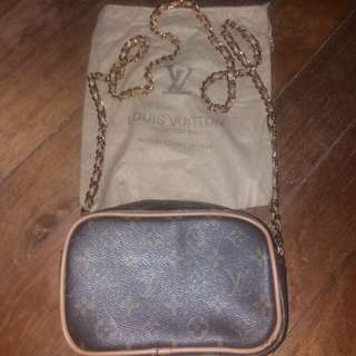Imported Louis Vuitton LV Gold chain Sling bag