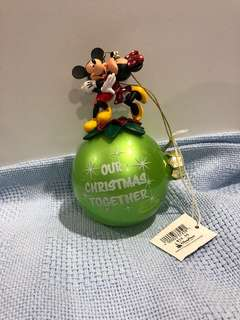 Mickey and Minnie Christmas Baubel