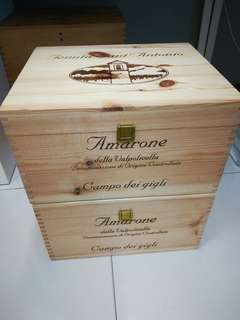 2 for $38 brand new Wooden Wine Crates or boxes