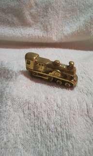 Vintage Solid Brass Train Figurine, Ornament, Antique, Decor, Gift