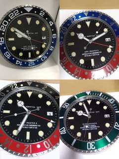 Rolex inspired Wall Clock gmt sub