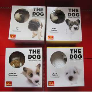 The Dogs Artist Collection X McDonald's 公仔4個 (有瑕疵)