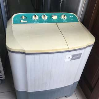 Mesin cuci 2 tabung LG Fuzzy logic 7kg