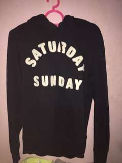 H&M SATURDAY SUNDAY HOODIE